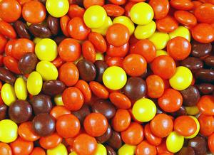 Halloween Peanut Butter Rice Krispies Bars