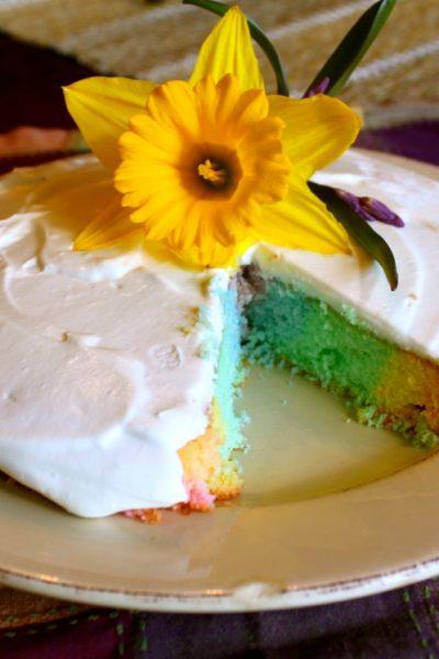Spring Rainbow Cake