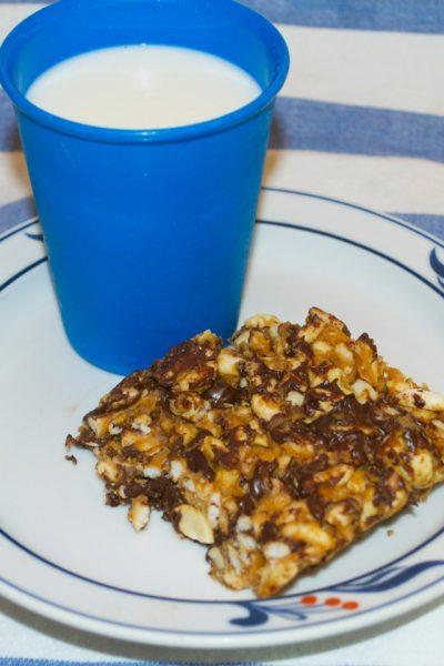 Crispy Peanut Butter and Chocolate Treats
