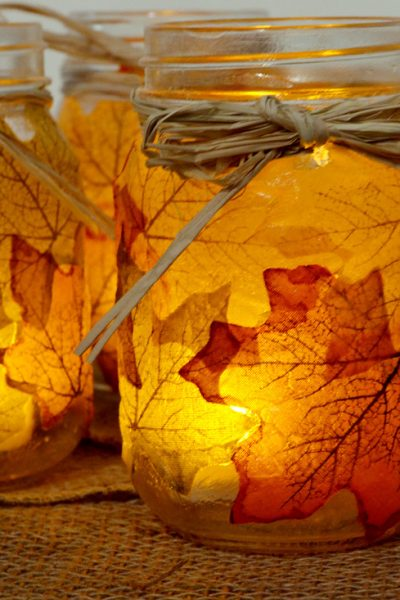 Holiday Gift Ideas: Paper Mache Mason Jar Candles