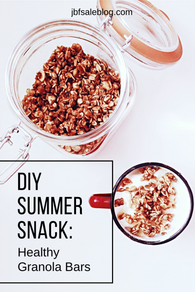 DIY Summer Snack: Healthy Granola Bars