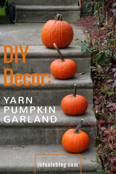 DIY Decor: Yarn Pumpkin Garland