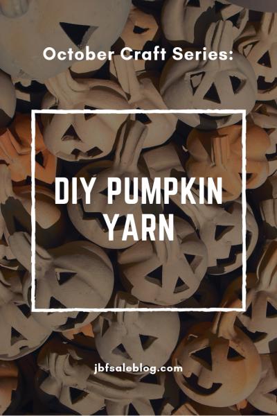 October Craft Series: DIY Pumpkin Yarn