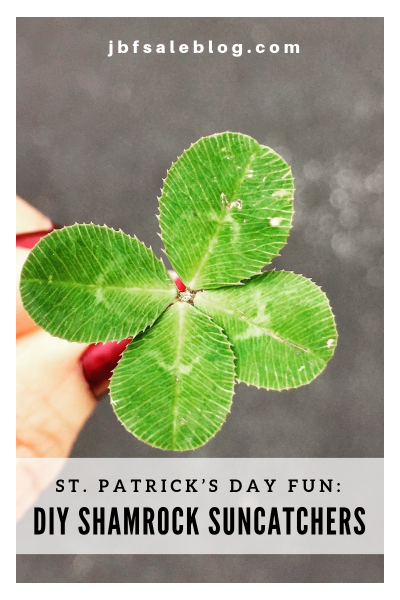 St. Patrick's Day Fun: DIY Shamrock Suncatchers
