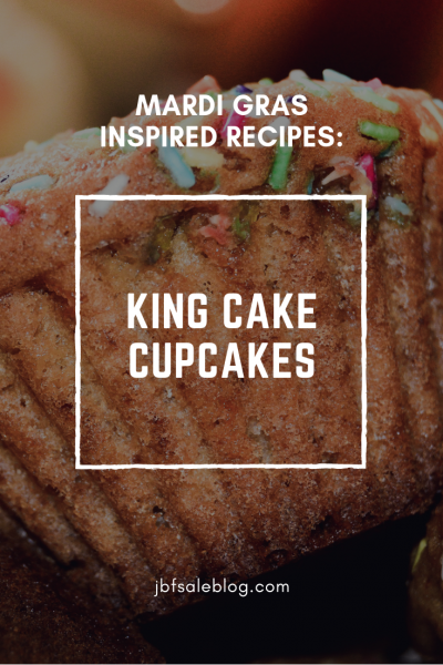 Mardi Gras Inspired Recipes: King Cake Cupcakes