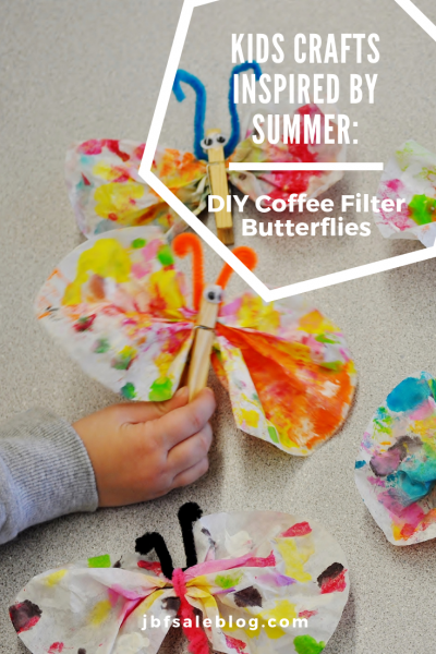 Kids Crafts Inspired by Summer: DIY Coffee Filter Butterflies