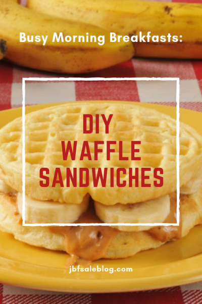 Busy Morning Breakfasts: DIY Waffle Sandwiches