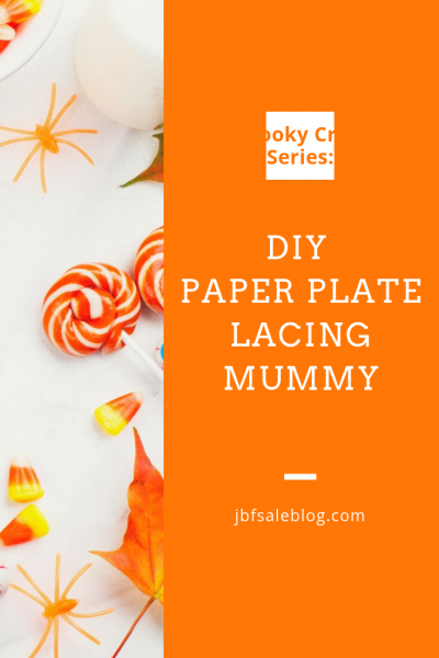 Spooky Craft Series: DIY Paper Plate Lacing Mummy
