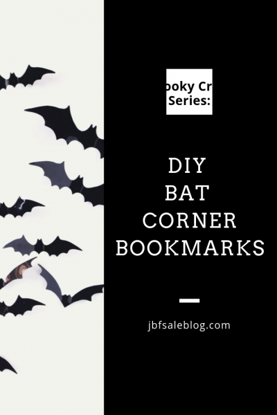 Spooky Craft Series: DIY Bat Corner Bookmarks