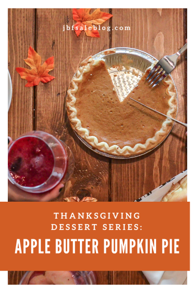 Thanksgiving Dessert Series: Apple Butter Pumpkin Pie