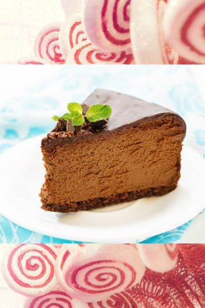 Holiday Baking Survival Guide: Chocolate Peppermint Cheesecake